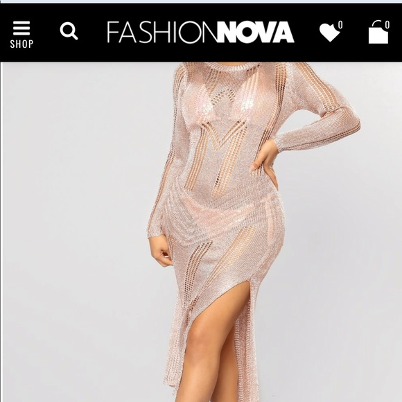 4b2564d351 Fashion Nova Swim | Fashionnova Forever Glam Cover Up Rose Gold ...